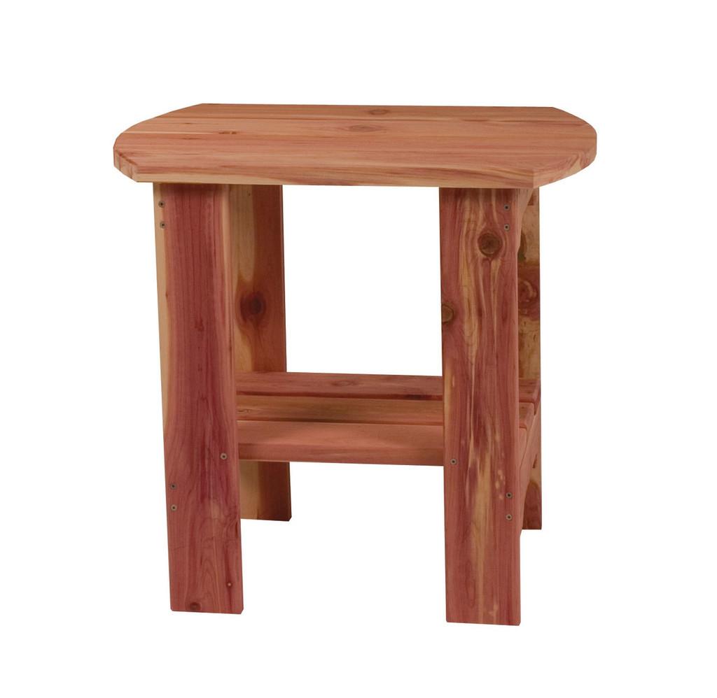 Cedar End Table (Oval)