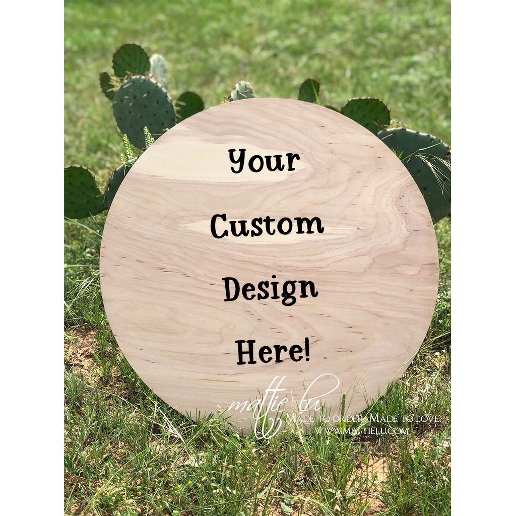Circle Door Hanger |  Round Custom Door Hanger | Personalized Front Door Decor