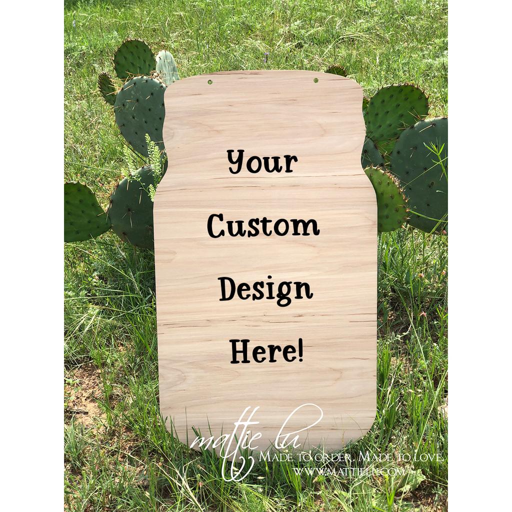Mason Jar Door Hanger |  Custom Door Hanger | Personalized Front Door Decor
