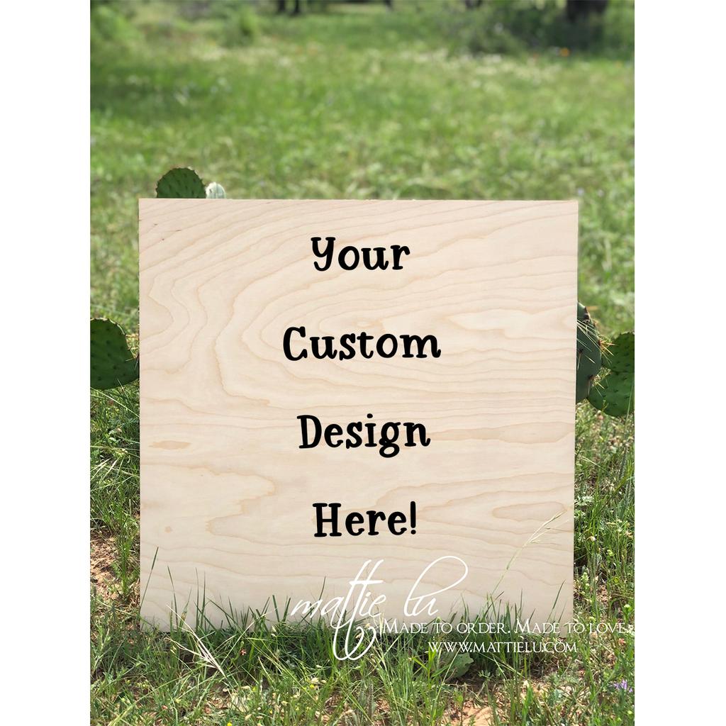 Square Door Hanger    Custom Door Hanger   Personalized Outdoor Wooden Signs
