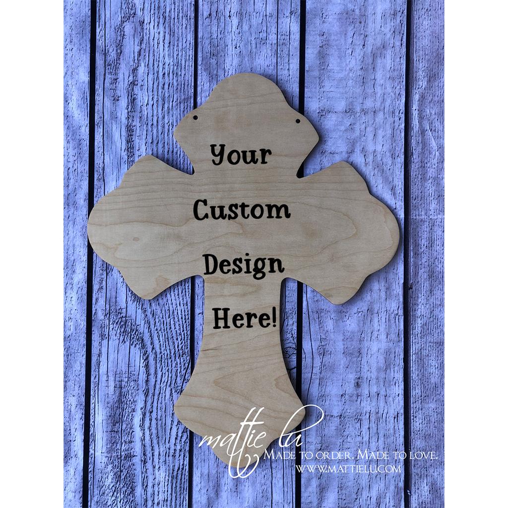 Cross Door Hanger |  Custom Door Hanger | Personalized Easter Gifts