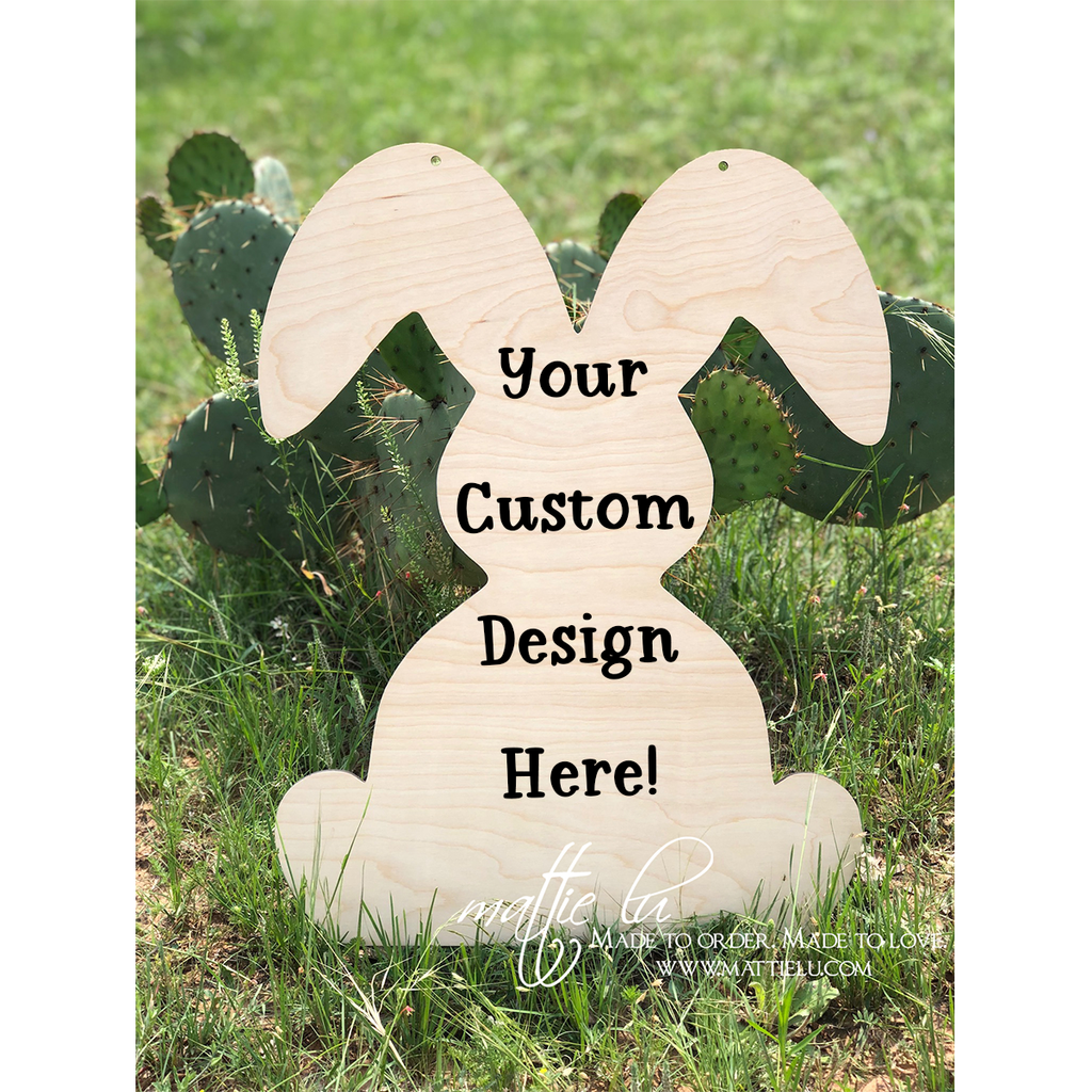 Rabbit Door Hanger    Custom Door Hanger   Personalized Easter Gifts