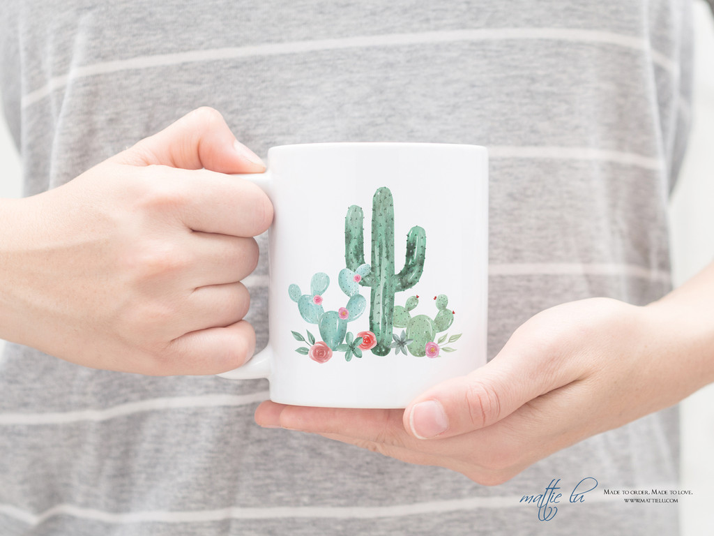 Personalized Coffee Mug for Cactus Lovers