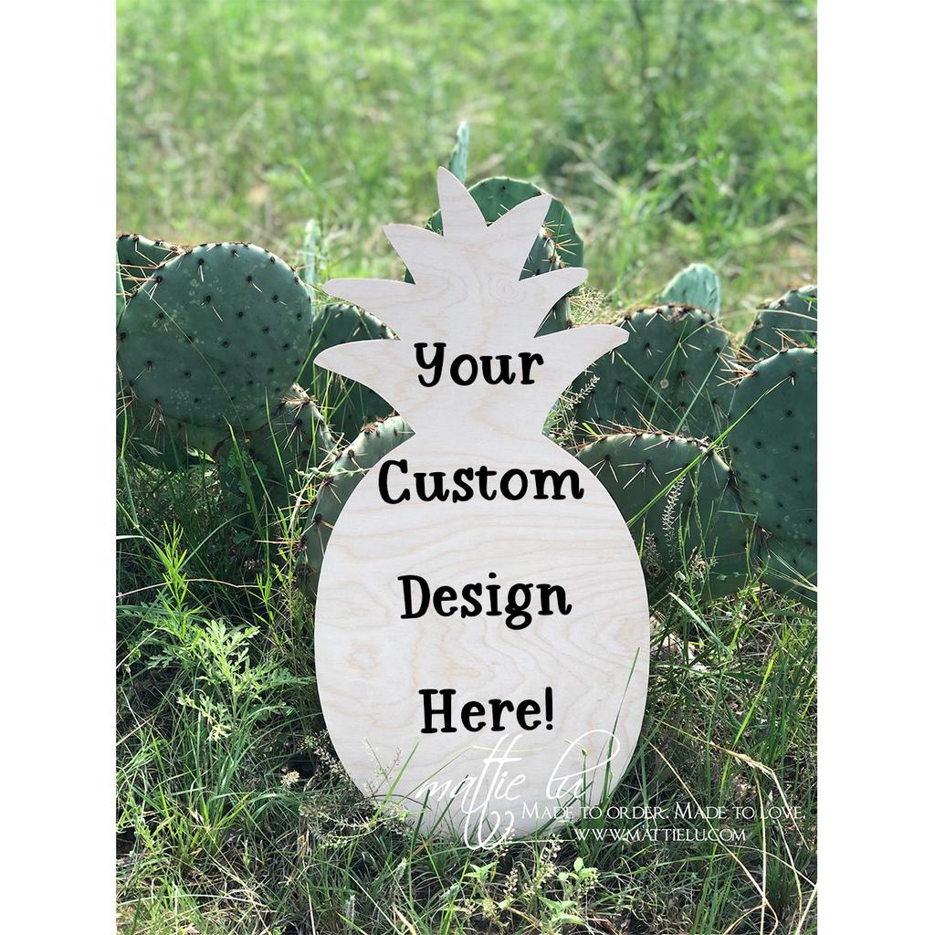 Pineapple Door Hanger | Pineapple Decor | Custom Door Hanger