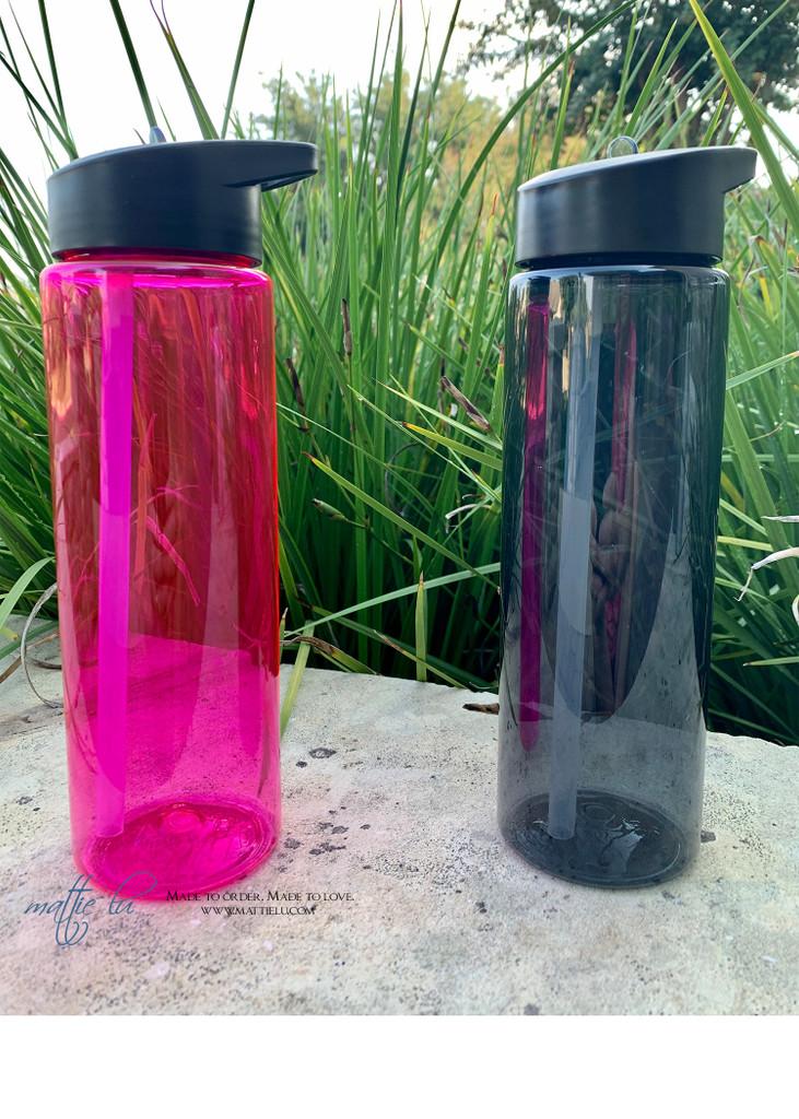Personalized Water Bottle   24 oz Sport Bottle   Monogrammed Water Bottle   Sorority Water Bottle   Fraternity   Best Personalized Gifts