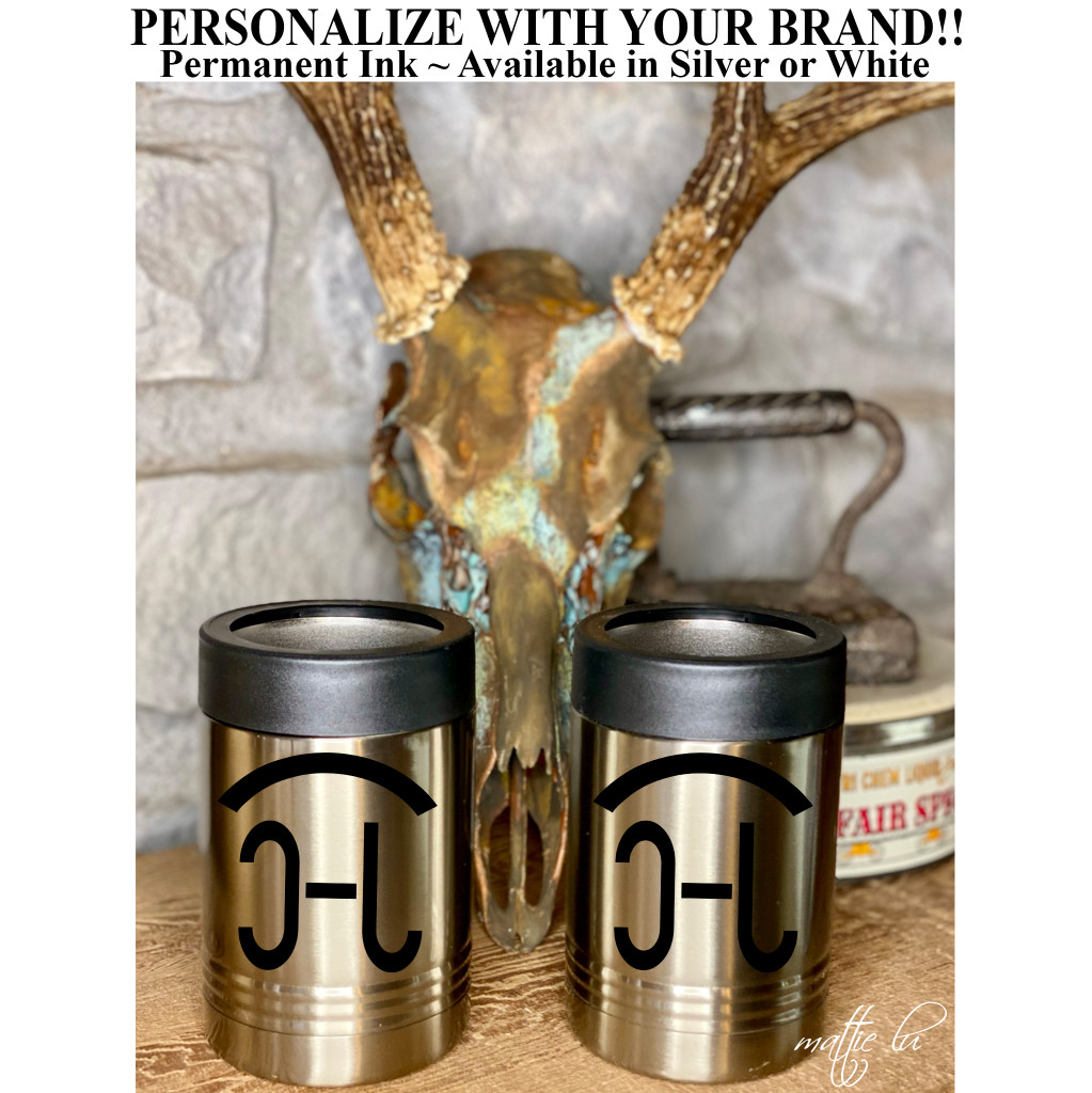 Custom Cattle Brand Insulated Beer Can Holders