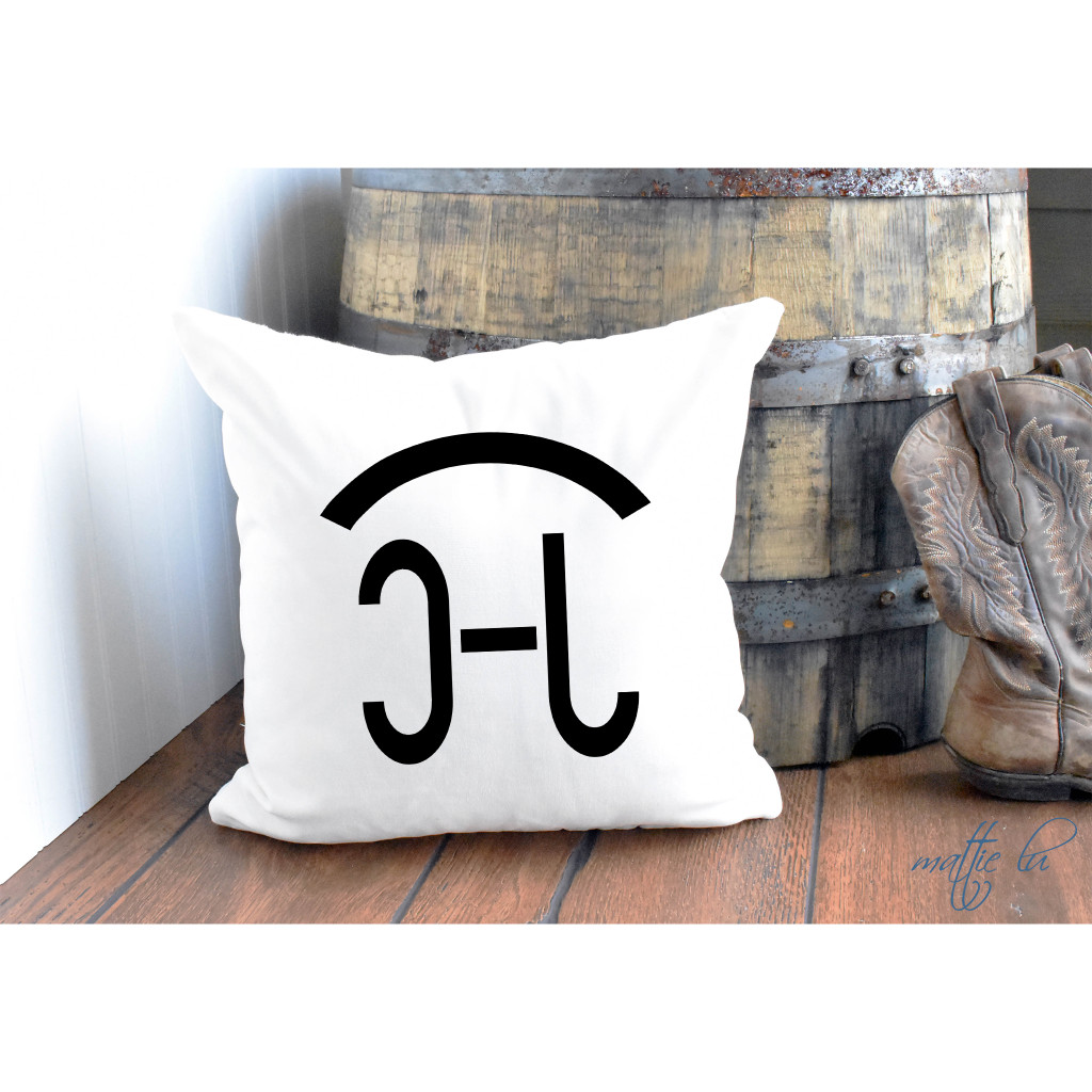Cattle Brand Rustic Pillow Cover