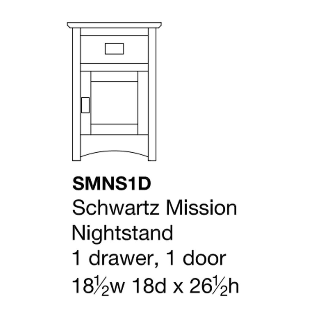Schwartz Mission Nightstand