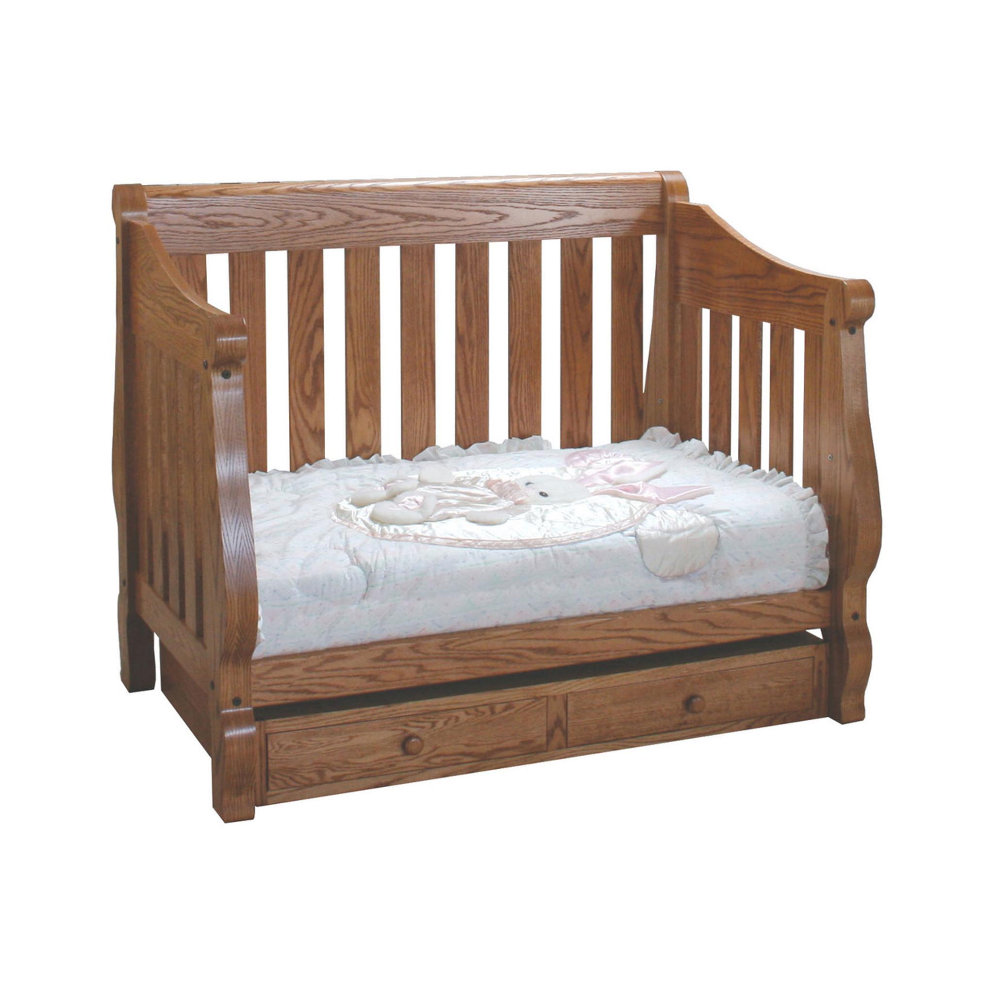 - Hoosier Sleigh 3-in-1 Convertible Crib - Mattie Lu