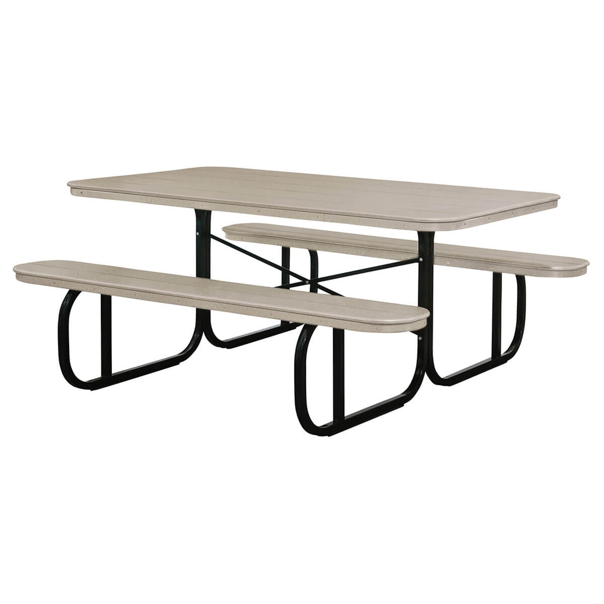 Picnic Table Poly With Metal Base