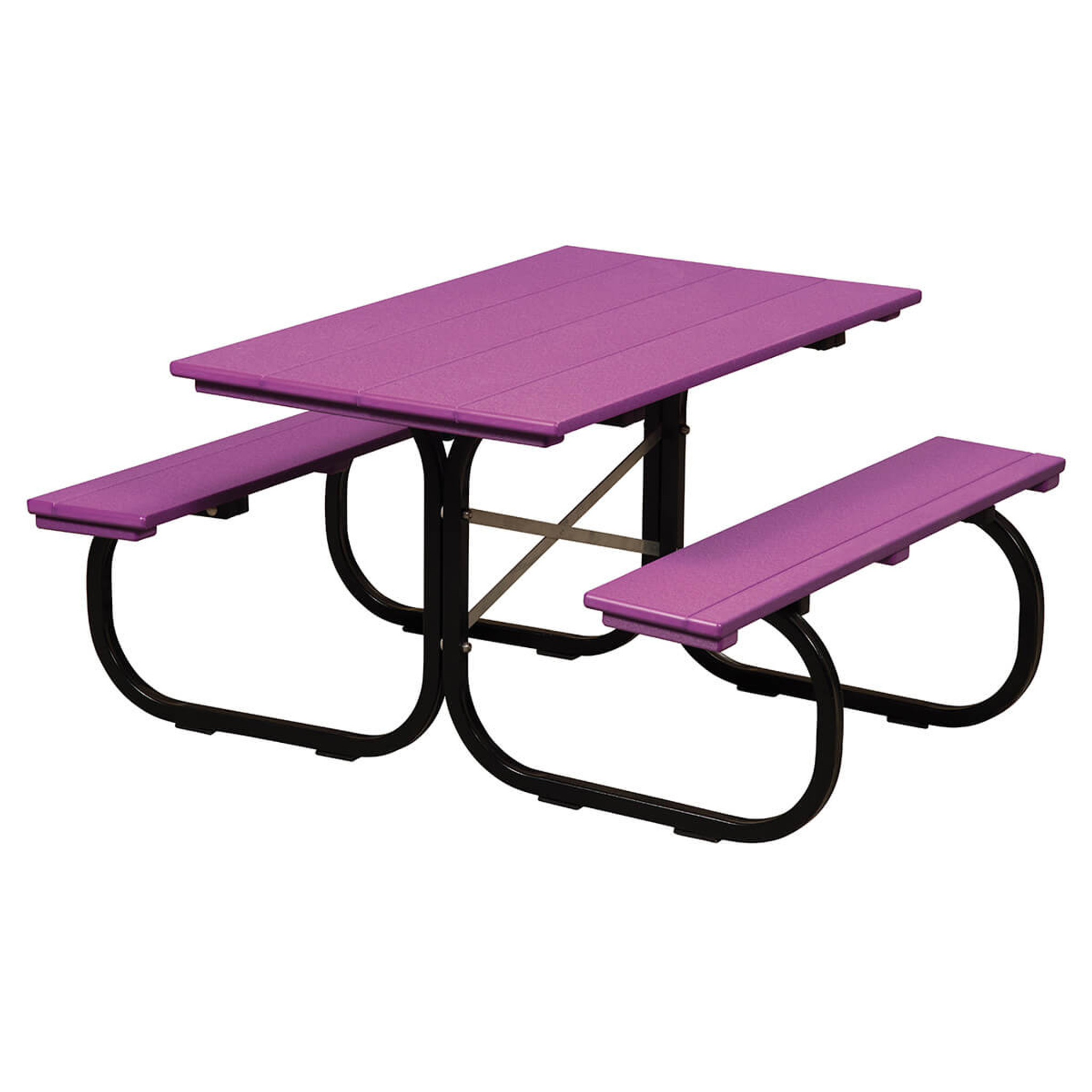 Kids Picnic Table Poly With Metal Base
