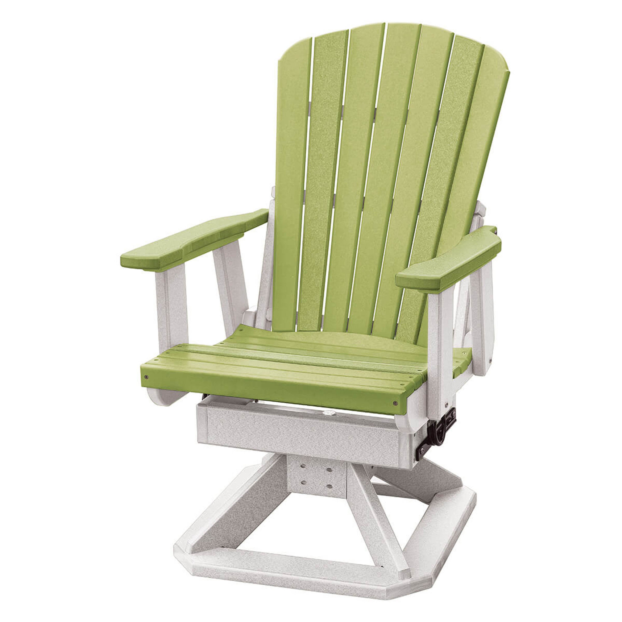 Groovy Polywood Fan Back Swivel Rocker Chair Ocoug Best Dining Table And Chair Ideas Images Ocougorg