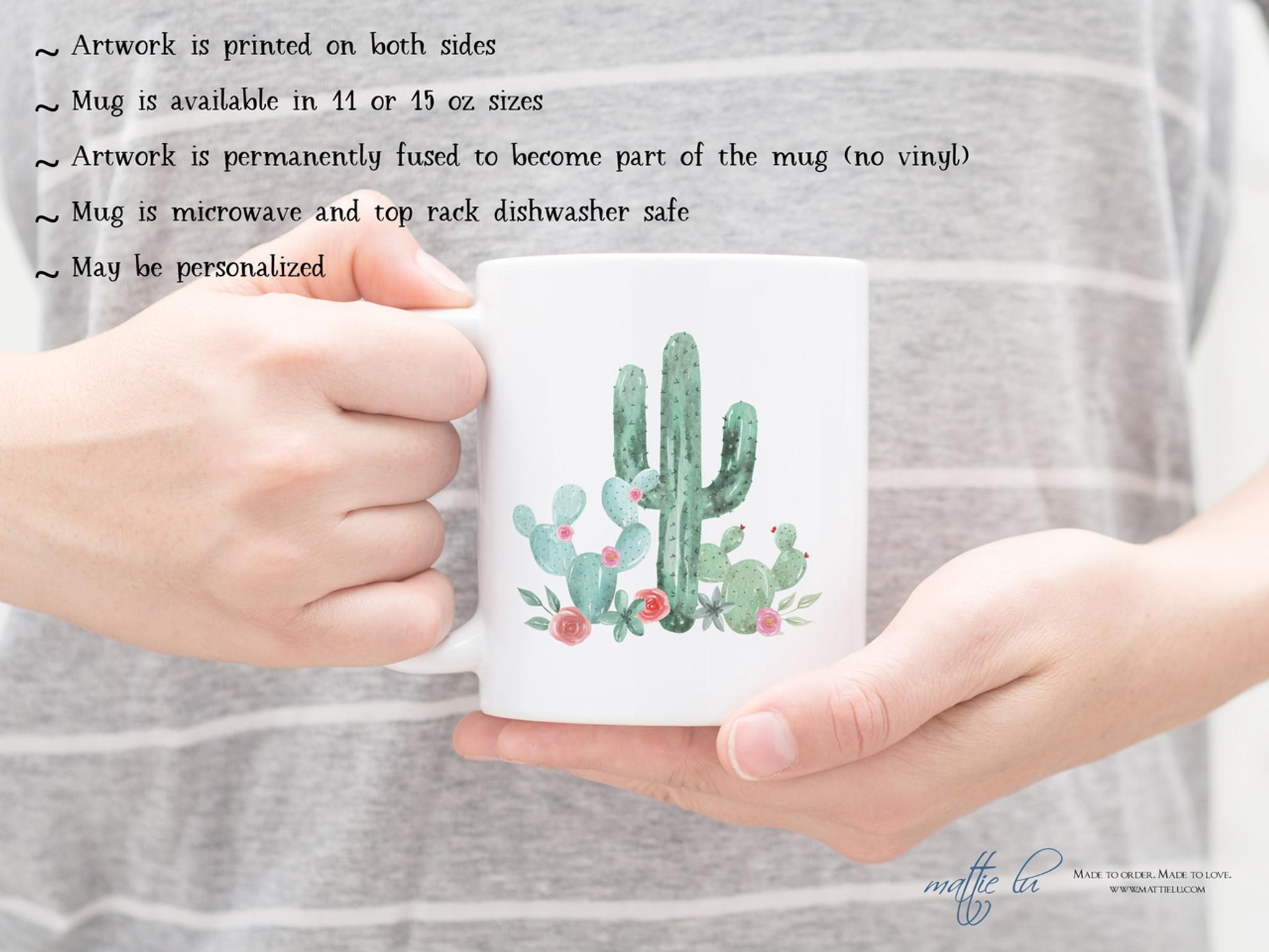 Gift Cactus Unique Coffee Custom Sets Personalized Mugs MugSucculent Lover Fan l3T1KFJc
