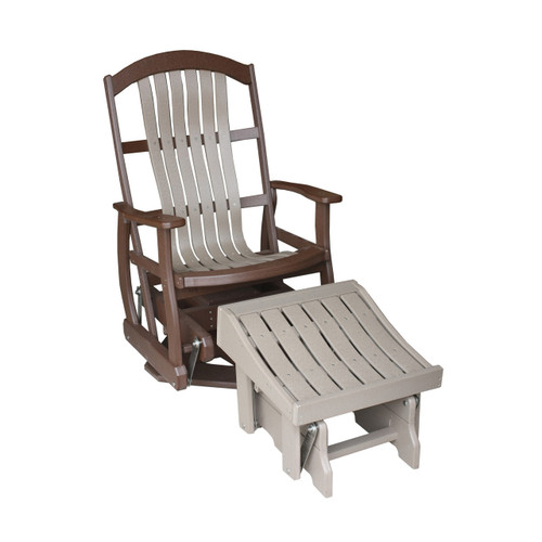 "24"" Cottage Poly Bent Swivel Glider"