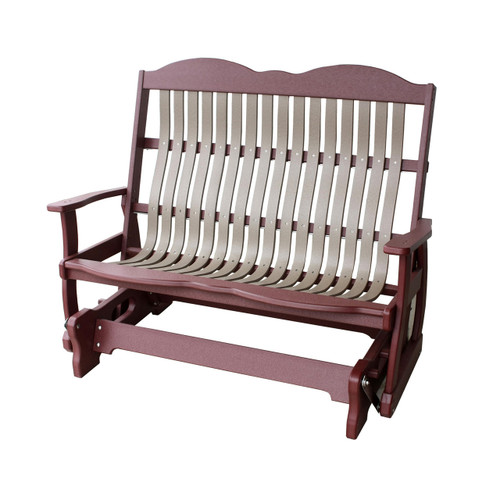 Cottage Poly Bent Loveseat Glider