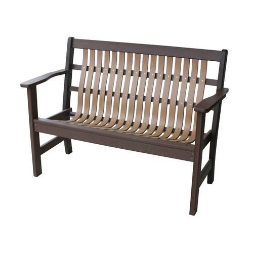 "48"" Poly Bent Garden Bench"