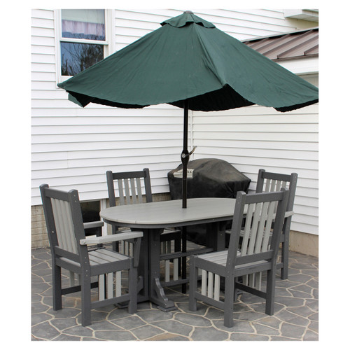 Outdoor Oval Mission Table