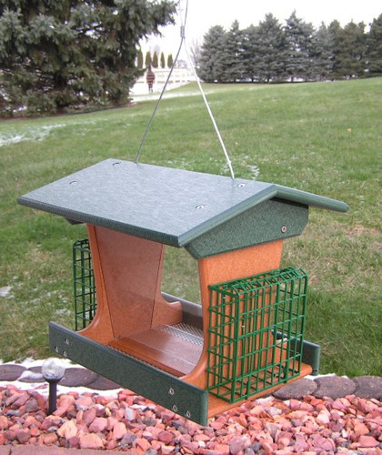 Amish-Made Poly Deluxe Bird Feeder for Wild Birds