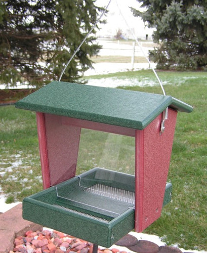 Amish Made Small Poly Bird Feeder