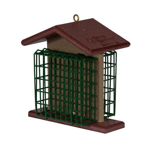 Double Suet Feeder | 2-Cake Hanging Suet Feeder