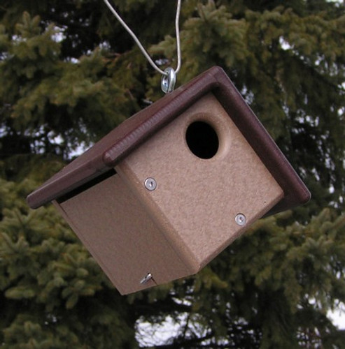 Amish Made Poly Birdhouse for Wrens