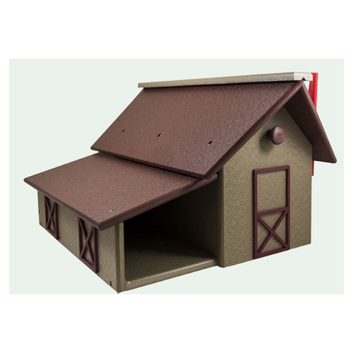 Barn Style Mailbox with Paper Box | Mailbox with Paper Holder