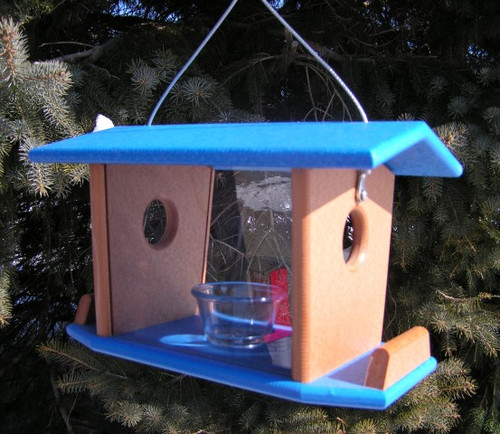 Amish-made Hanging Bluebird Feeder