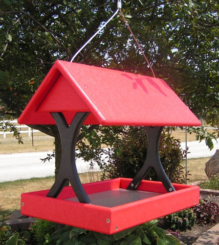 Amish Handcrafted Fly Thru Bird Feeder