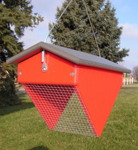 Amish Made Upside Down Peanut Bird Feeder
