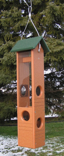 Amish-made Poly Ultimate Black Oil Bird Feeder