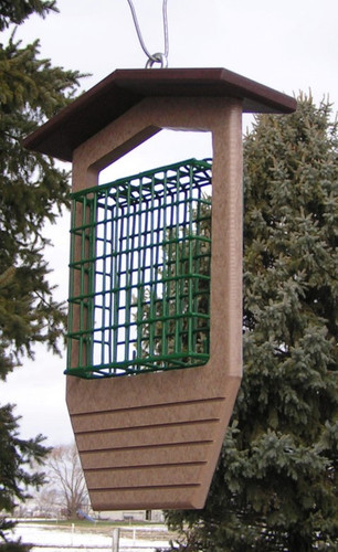 Single Suet Bird Feeder | Poly Bird Feeder Suet