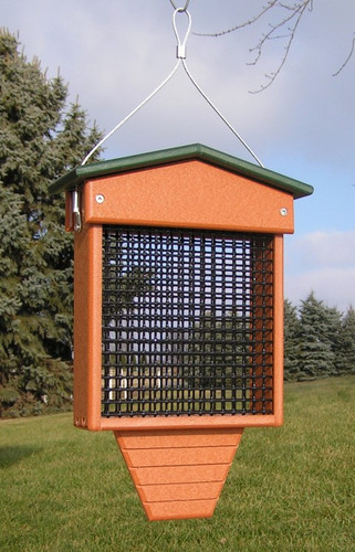 2-Cake Suet Bird Feeder | Wild Birds Feeder with 2 Suet Cakes