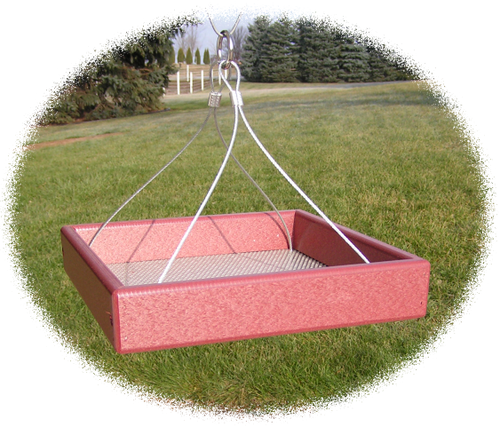 Small Hanging Bird Feeder | Amish-made Hanging Bird Feeder Tray