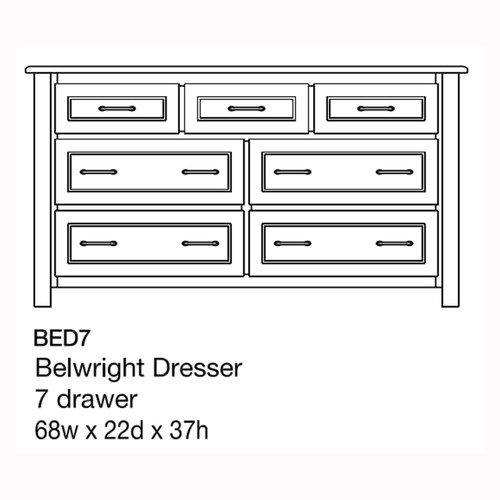 "Belwright 68"" Dresser"