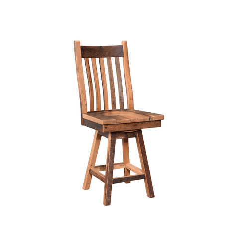 Mission Swivel Bar Chair (Barn Wood)