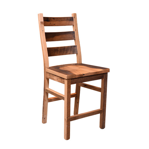 Ladderback Bar Chair (Barn Wood)