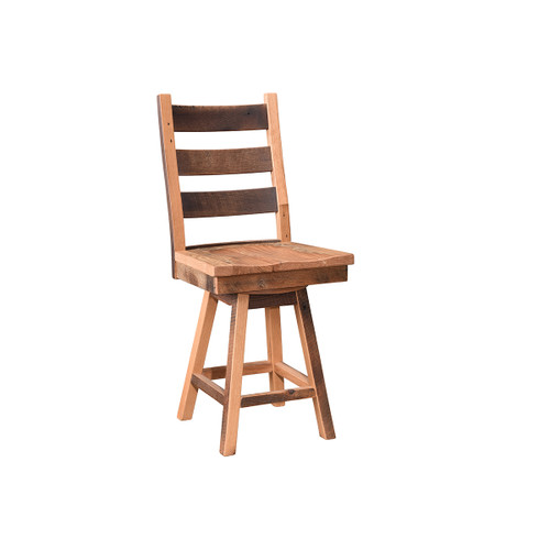 Ladderback Swivel Bar Chair (Barn Wood)