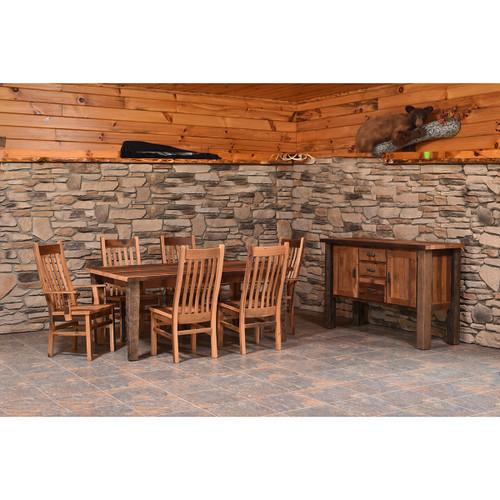 Almanzo Table (Barn Wood / Tapered Leg)