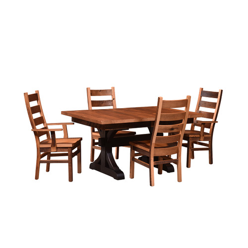 Croft Trestle Table (Barn Wood Top / Extendable)