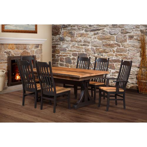 Croft Trestle Table (Barn Wood Top)
