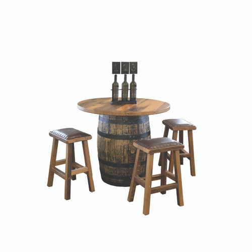 Barrel Pub Table (Barn Wood / Round Top)