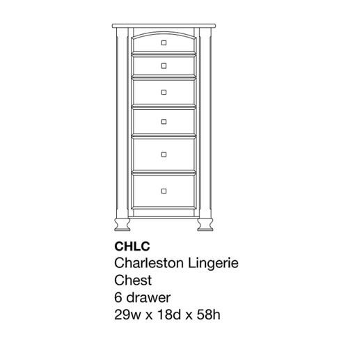 Charleston Lingerie Chest