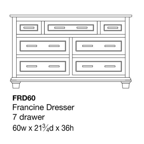 """Francine 60"""" Dresser"""