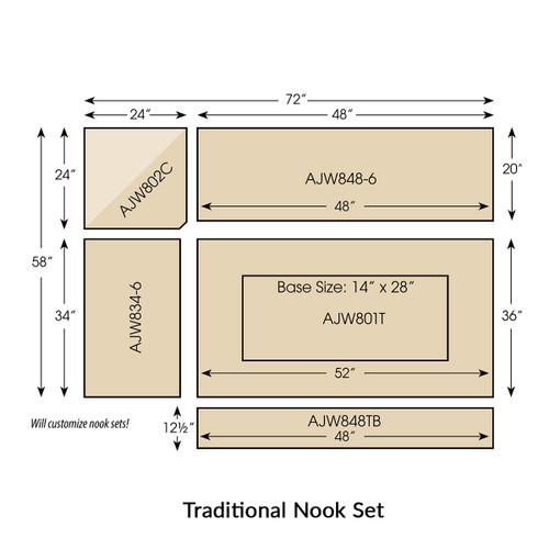 Upholstered Traditional Nook Set