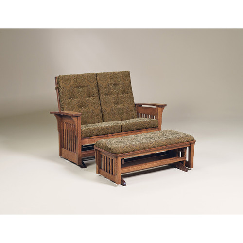 Bow Arm Panel Loveseat Glider