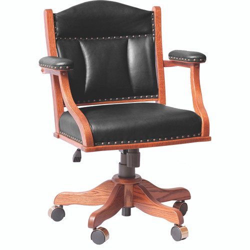 Low Back Arm Desk Chair (Gas Lift)