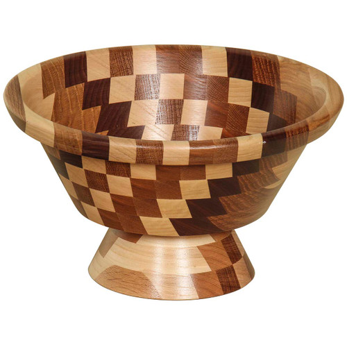 Footed Wooden Bowl (Mixed Wood)