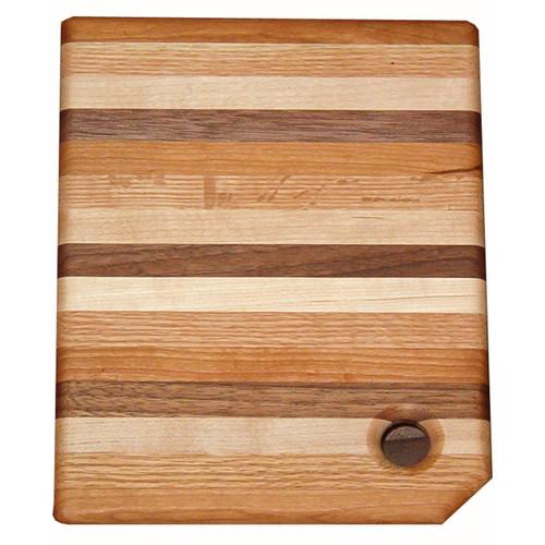 Multi-Wood Narrow Striped Cutting Board