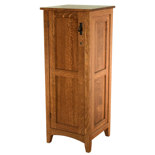 Flush Mission Jewelry Armoire (with Lockable Door)