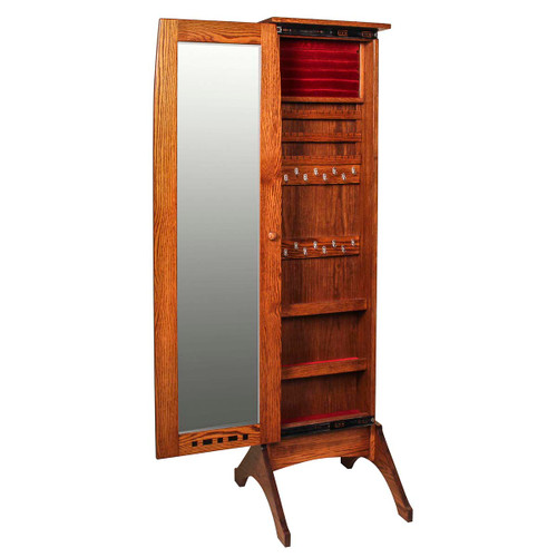 Boulder Creek Jewelry Mirror (with Sliding Door)